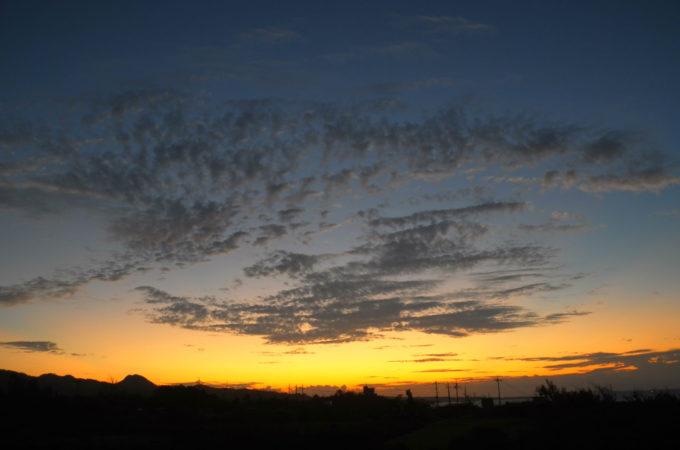 「結家」から見た夕焼け