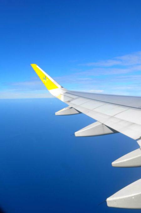LCC「バニラエアー」の飛んでいる機体