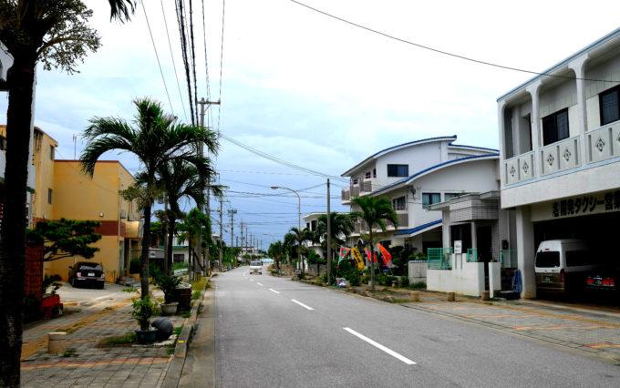 伊良部島のメインストリート