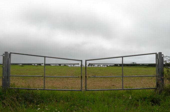 牧場のゲート