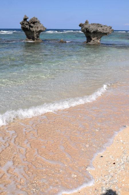 ティーヌ浜のハートロック