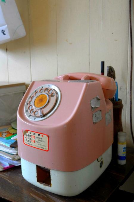 懐かしいピンク電話