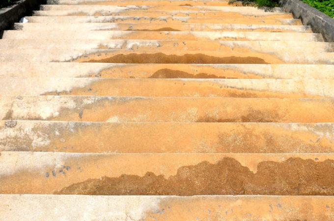 牧山展望台の階段
