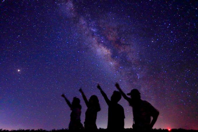 星空鑑賞で観た天の川