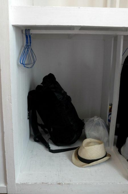 ドミトリーの荷物置き場