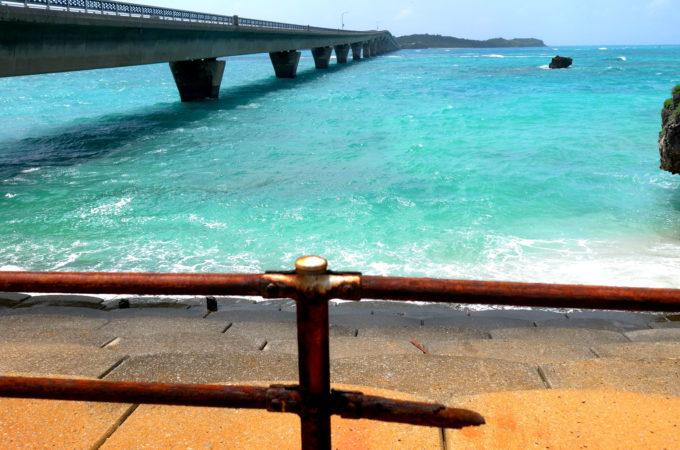 宮古島側から見た池間大橋