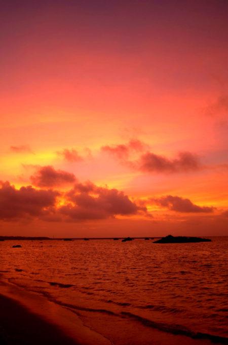 佐和田の浜の夕焼け