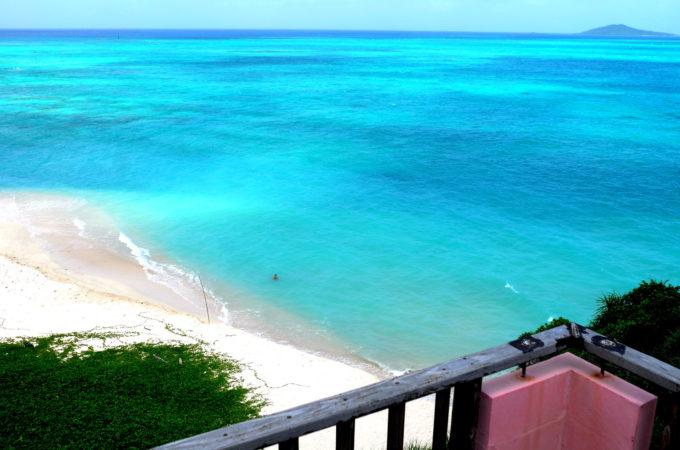 展望台の上から見たオハマビーチ