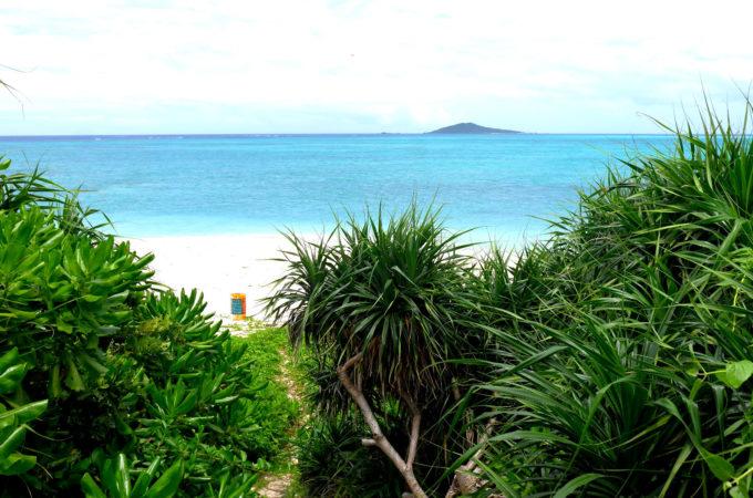 オハマビーチと大神島