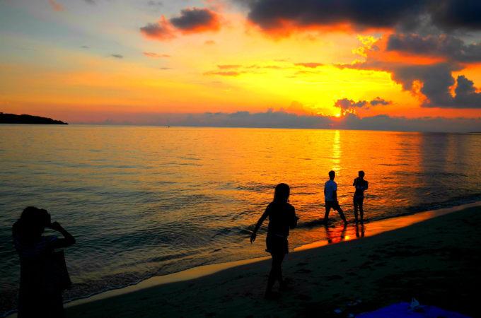 宮古島/与那覇前浜ビーチの夕陽