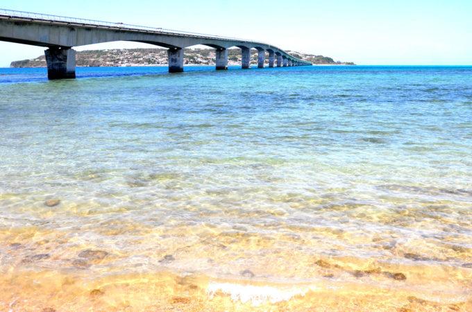 古宇利大橋下の海岸