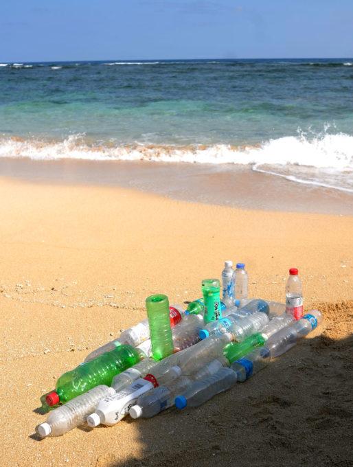 Art on Beach 作品「難破船 ペットボトル号」