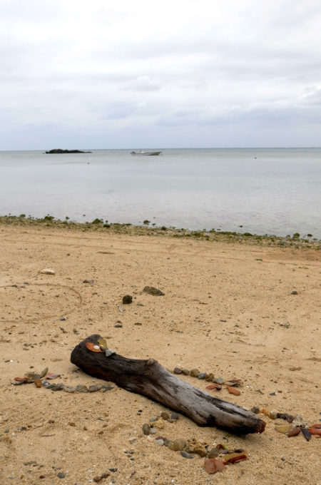 オブジェ作品「海辺のヤモリ」
