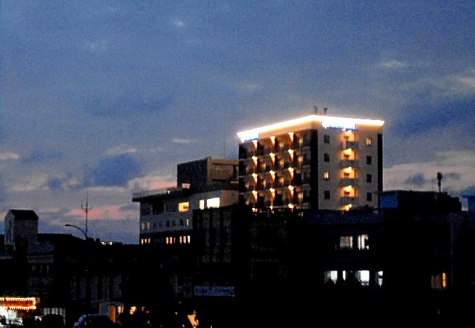 テラスから観た夜景