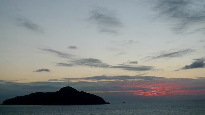 展望台から見た夕焼け