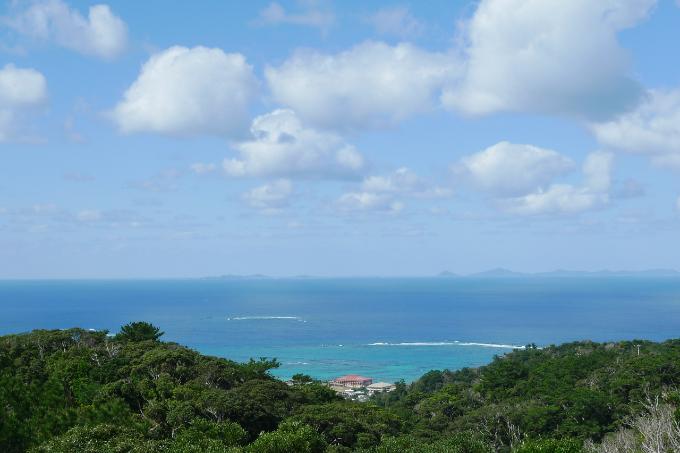 森林公園の見晴台からの景色