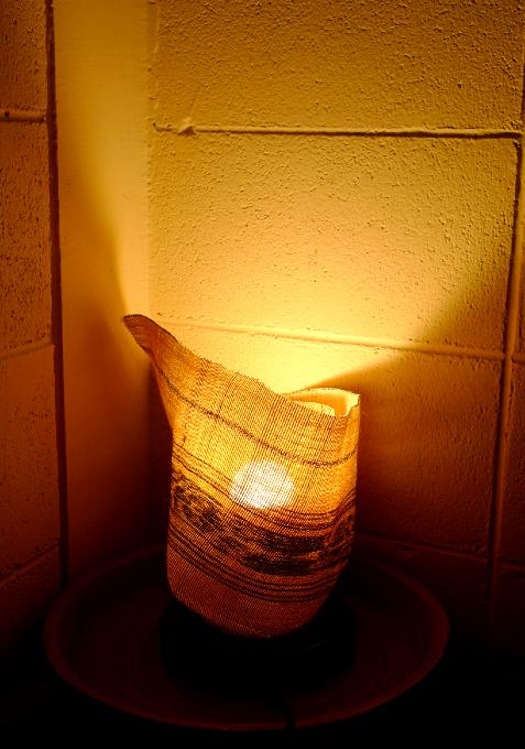 竹編のライトシェード
